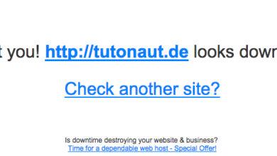 Bild von Prüfen, ob eine Website down ist