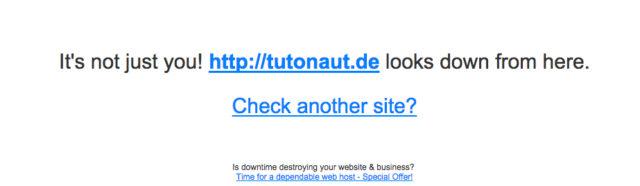 Website down