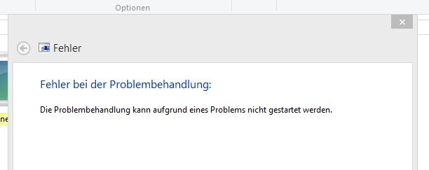 Windows Problembehandlung