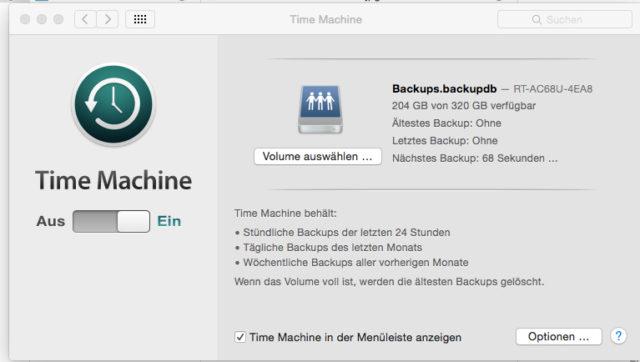 Time Machine im Netzwerk 6