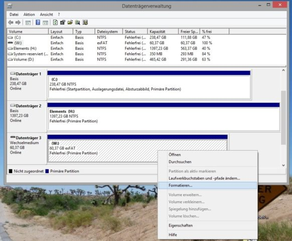 WS Formatieren 3 Datenträgerverwaltung