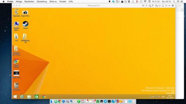 Parallels Windows 8.1