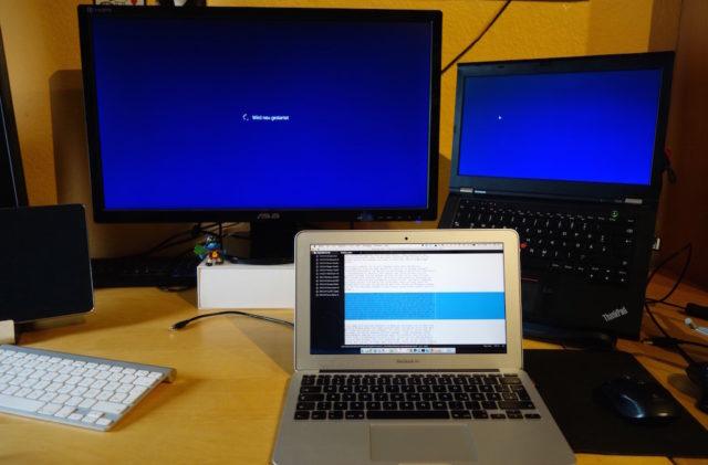 Windows und Macbook
