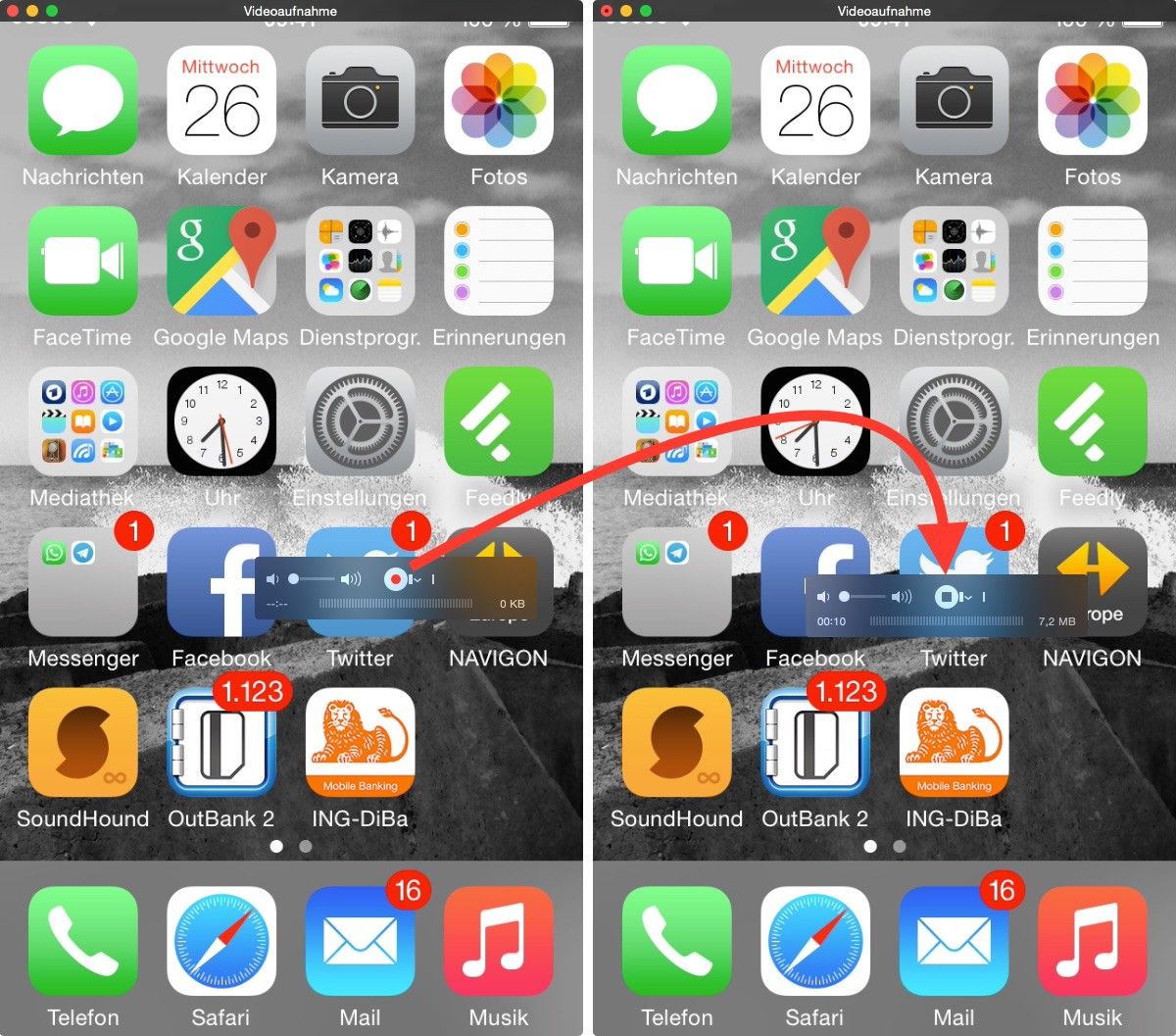 anleitung bildschirm video von iphone und ipad mit dem mac erstellen tutonaut. Black Bedroom Furniture Sets. Home Design Ideas