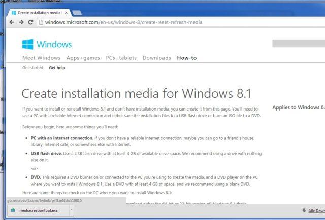 Windows 8 Download Tool