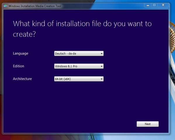Windows 8.1 USB-installation