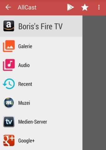 Mit AllCast könnt Ihr Filme, Musik und Fotos ans Kindle Fire TV schicken