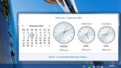 Bild von Weltzeituhr unter Windows direkt auf dem Desktop anzeigen
