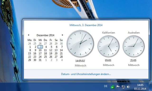 Windows Weltzeituhr