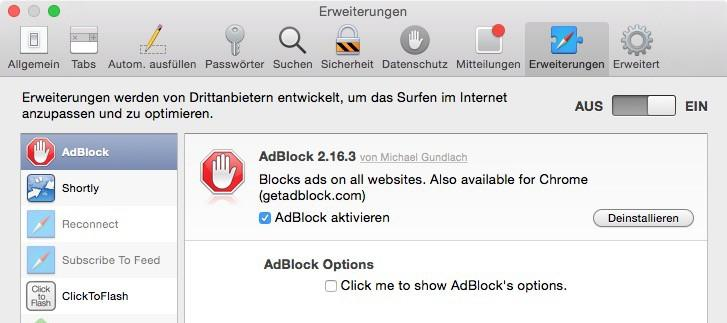 Adblocker schaden Websites.