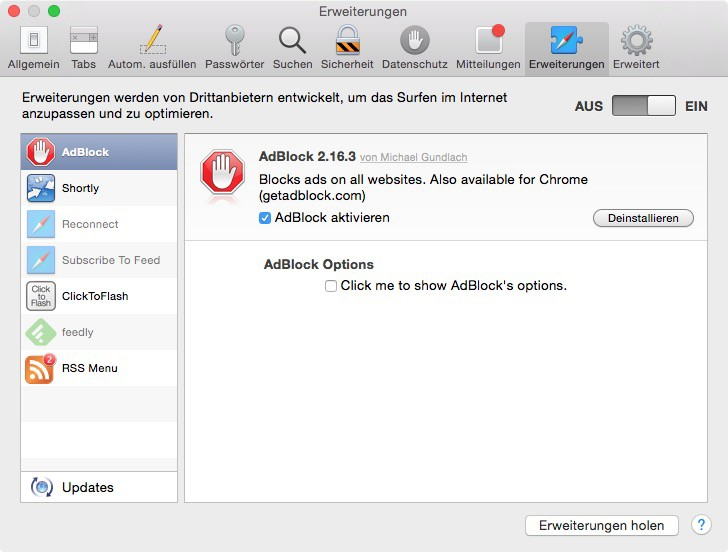 Anleitung: Adblock in Safari deaktivieren und Websites unterstützen - Der Tutonaut