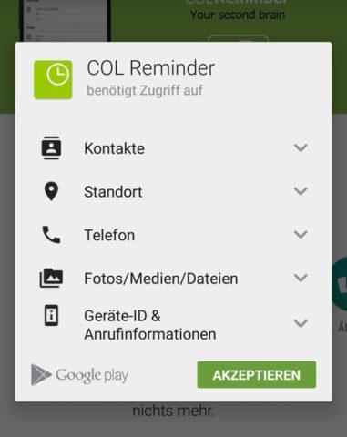 Android Berechtigungen