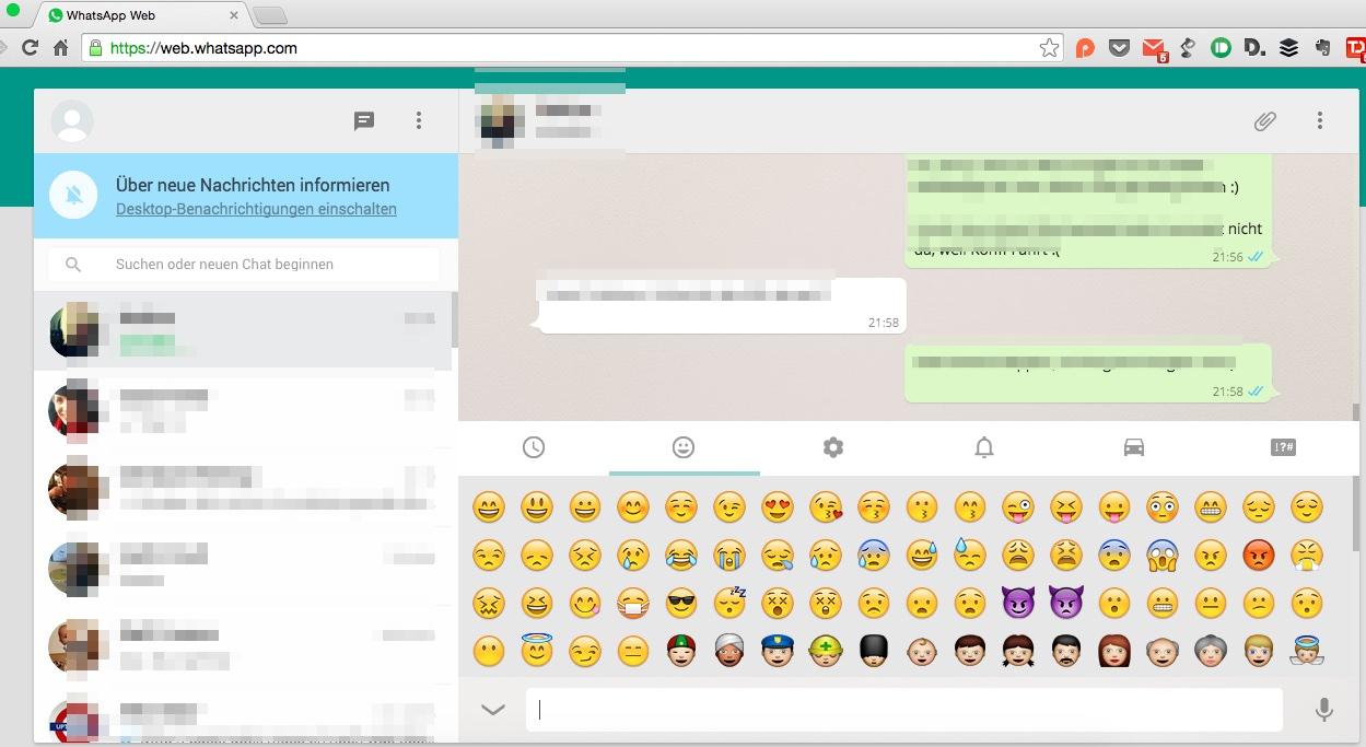 WhatsApp im Browser
