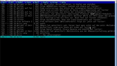 Bild von Anleitung: Terminal als schlanken Mailclient einsetzen