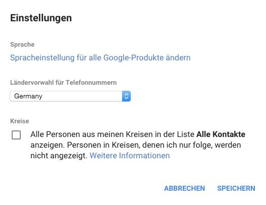 Google+ Kontakte