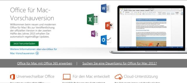 Office 2016 Mac OS X