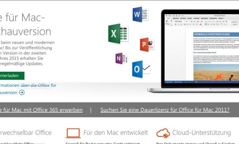 Office 2016 Mac OS X