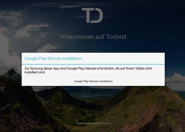 ARC Welder fehlt der Zugriff auf die Google Play-Denste, die viele Android-Apps für ihre Funktionen benutzen
