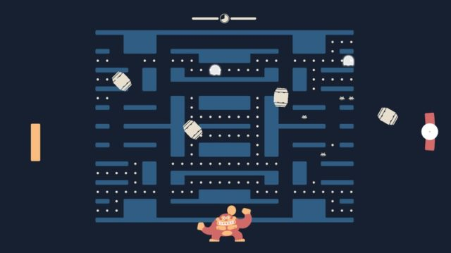 Auch ohne den Auftritt von Donkey Kong hält Euch Pacaapong ordentlich auf Trab