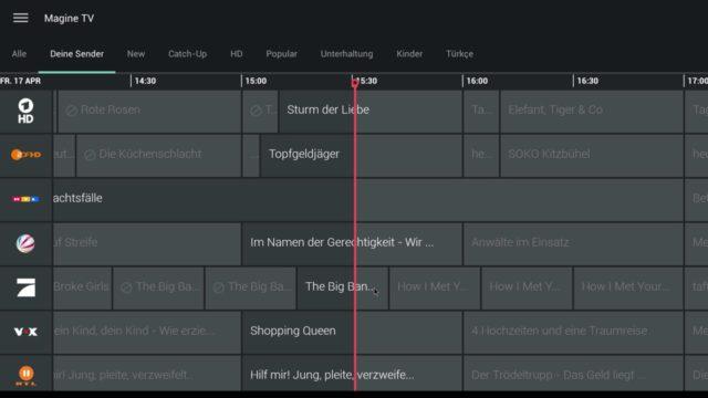 Dank Maussteuerung funktionieren auch Apps wie Magine TV auf dem Amazon Fire TV