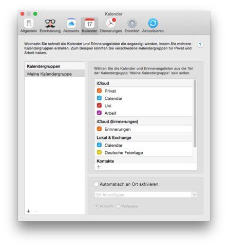 Praktisch: Fantastical 2 erlaubt es, Kalender in Gruppen zu sortieren