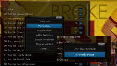 Bild von Anleitung: Problematische Kodi-Videos mit externem Player öffnen