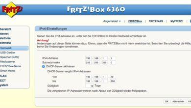 Bild von Standard-IP-Adresse der FritzBox ändern