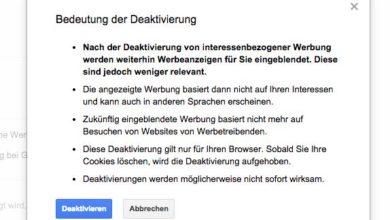 Bild von Personalisierte Werbung bei Google deaktivieren