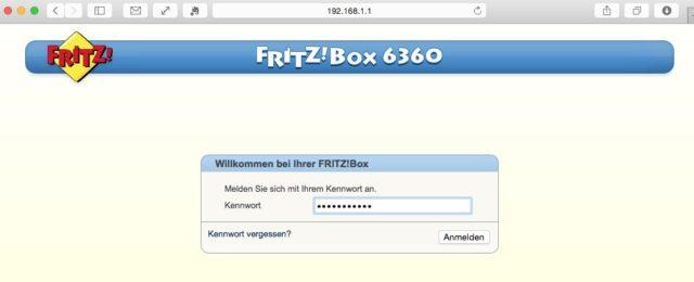 FritzBox Login