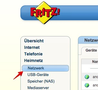 Fritzbox Netzwerkeinstellungen