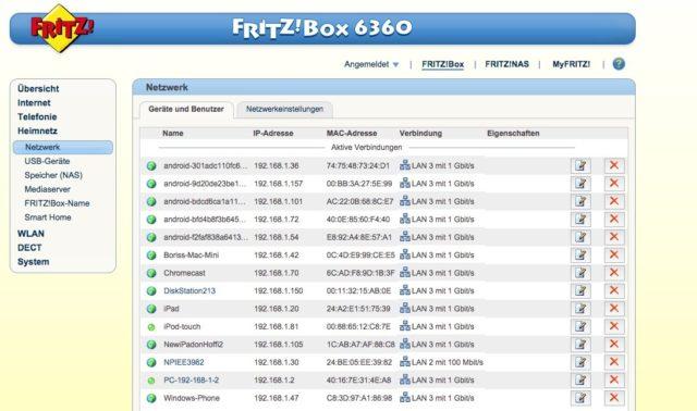 FritzBox Heimnetzwerk