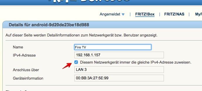 FritzBox IP-Adresse