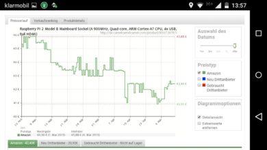 Bild von Preisverlauf von Amazon-Produkten unter Android anzeigen