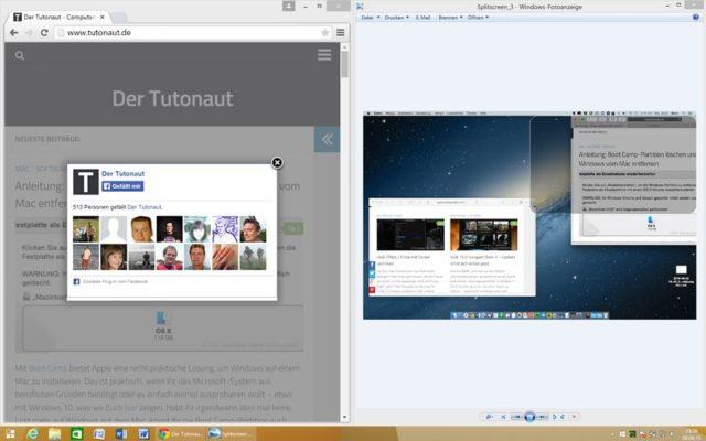 In Windows ist es seit Jahren ganz einfach, zwei Fenster nebeneinander zu platzieren