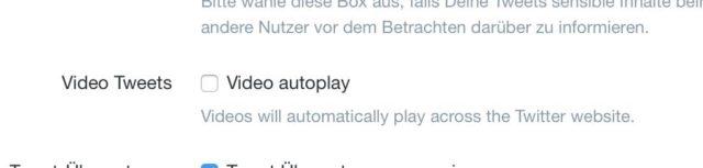 Twitter Auto Play