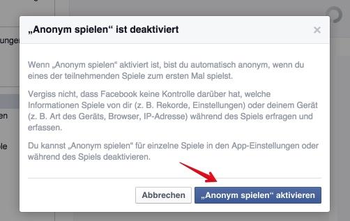 Mit einem Klick sorgt Ihr dafür, dass Eure Freunde nichts mehr von Euren Facebook-Spielen mitbekommen
