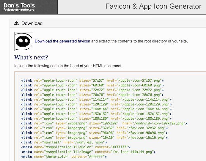 Der Favicon-Generator erstellt alle nötigen Favicons für Websites mit nur einem Klick.