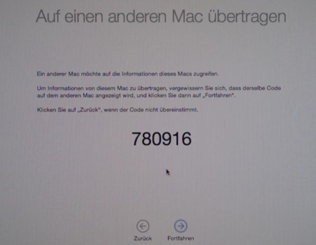 Mac Code eingeben