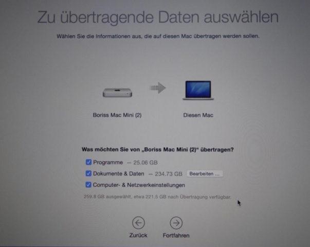 Mac Dateien auswählen