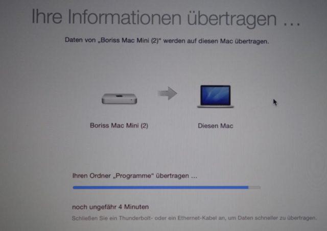 Mac Übertragung