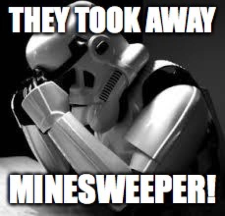They took away minesweeper
