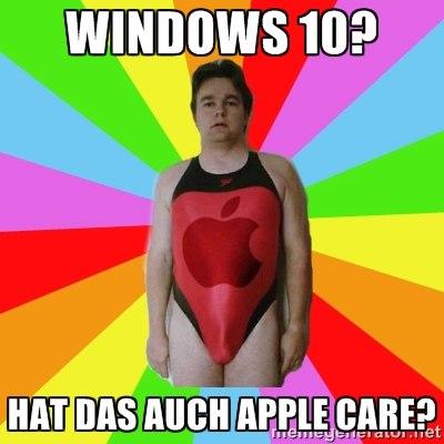 Windows 10 – hat das auch Apple Care?