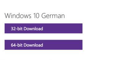 Praktisch: Ihr habt die Wahl zwischen der 64- und der 32-bit-Version von Windows 10