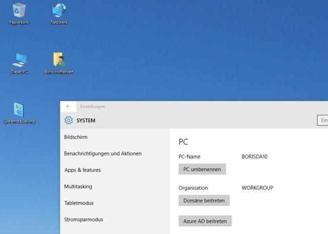 Neues Windows, alte Icons: Auch unter Windows 10 könnt Ihr die wichtigen Systemziele bei Bedarf über den Desktop erreichen