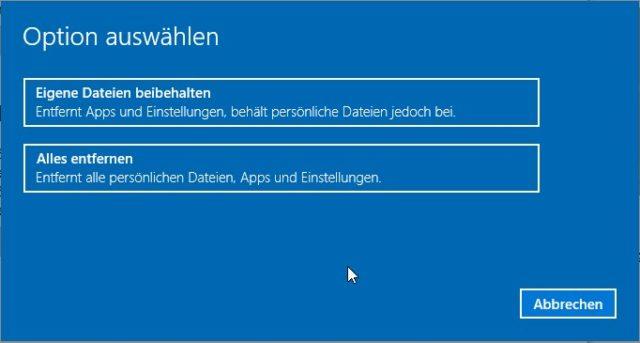 Windows 10 zurücksetzen_03