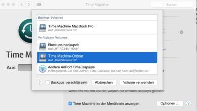 Bild von Anleitung: Time Machine-Backups auf Synology-NAS erstellen