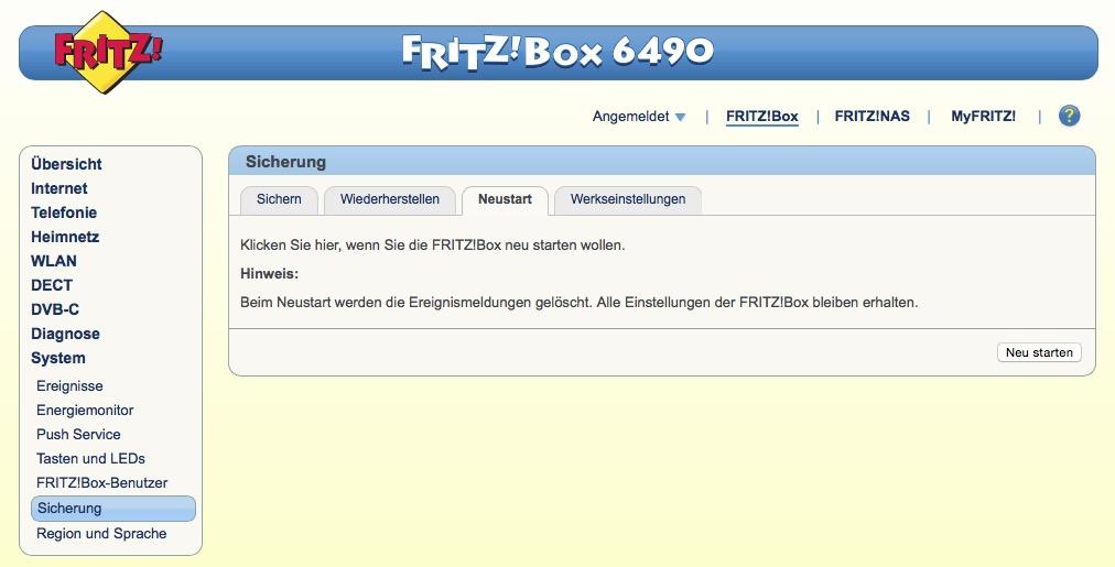 Fritzbox_neustart