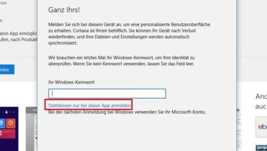 Bild von Apps aus dem Windows-Store mit lokalem Benutzerkonto installieren