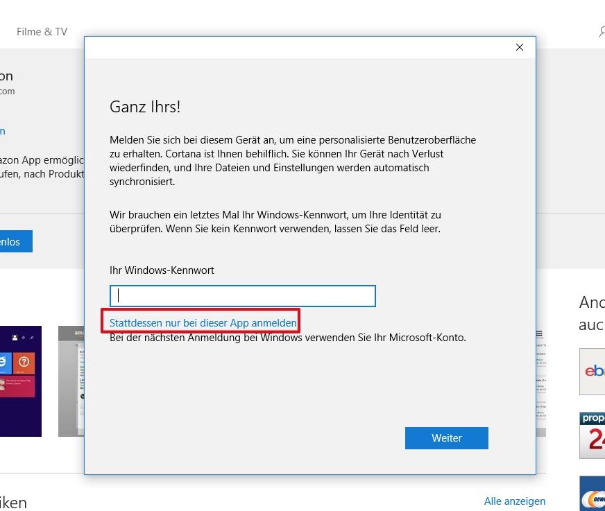 Windows 10 Store lokal nutzen