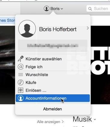 Accountinfos iTunes
